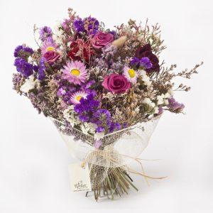 זר פרחים מיובשים פרובאנס