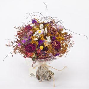 זר פרחים מיובשים נורמנדי